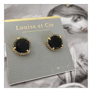 Louise et Cie Amazonite & Crystal Stud Earrings